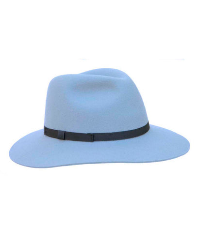 Goodwood Grayson Ladies Hat Blue-Grey with Navy Ribbon