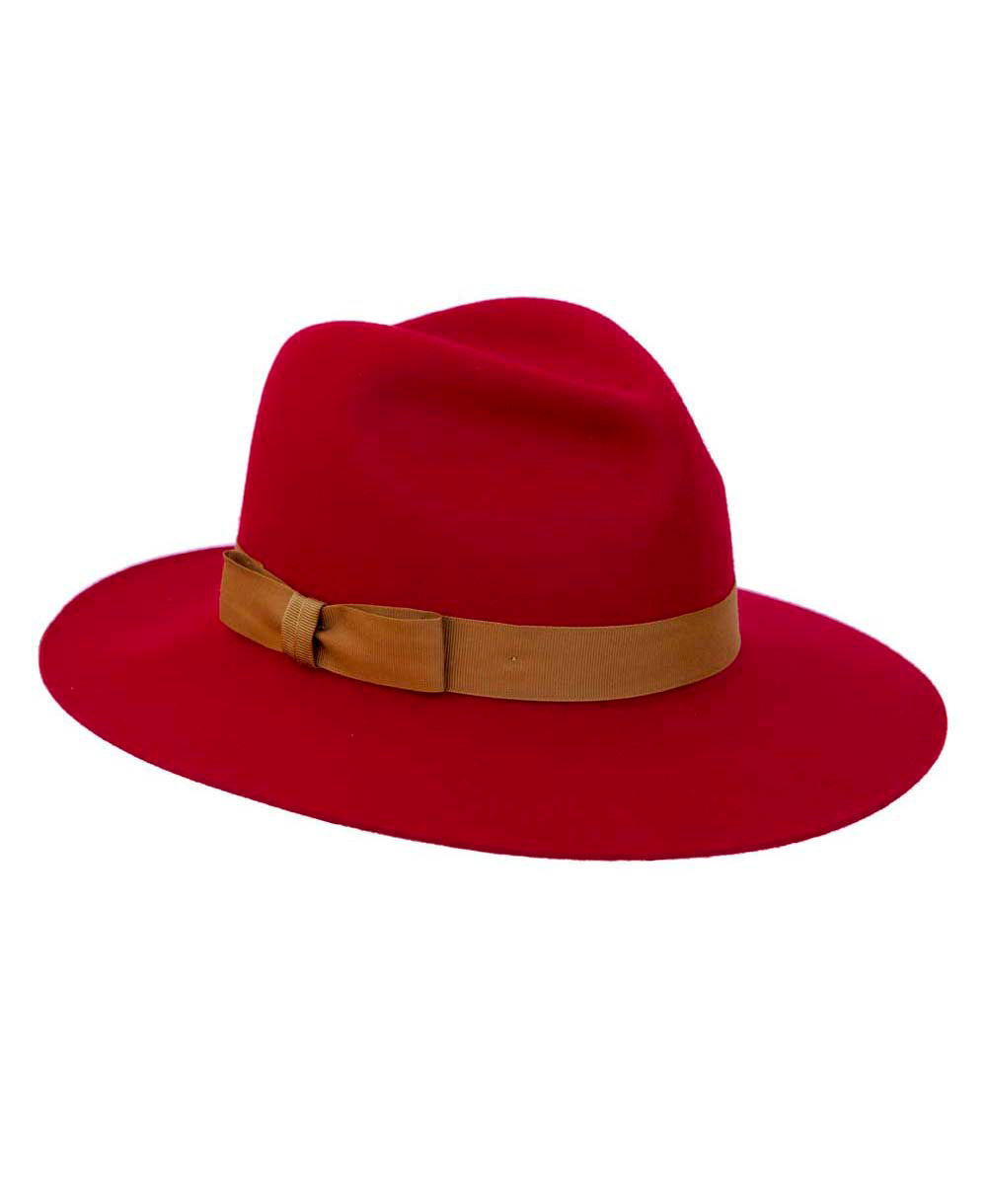 Fur Felt Goodwood Grayson Ladies Hat in Bright Red