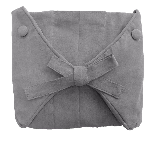 Cool Gray Microsuede Slip Cover