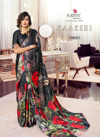 Japan Satin Crepe Saree Kaakshi 108005