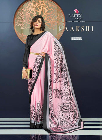 Japan Satin Crepe Saree Kaakshi 108008