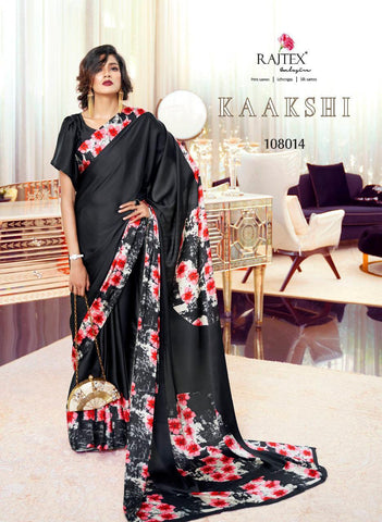 Japan Satin Crepe Saree Kaakshi 108014
