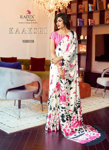 Japan Satin Crepe Saree Kaakshi 108018