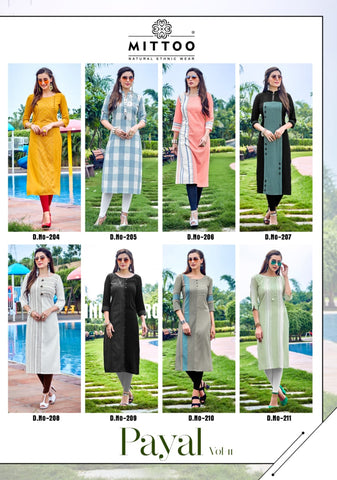 Payal Vol 11 By Mittoo ( Set of 8 Pcs)