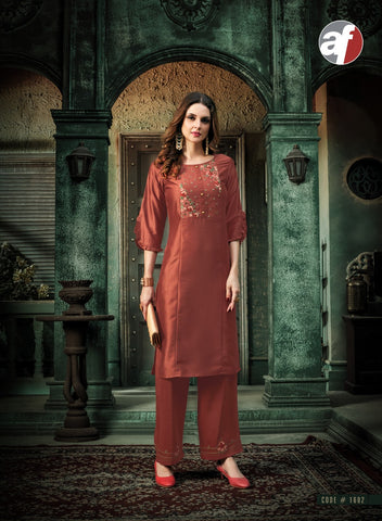 Bamber Silk Embroidered Kurti 1602