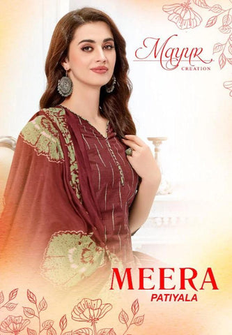 Meera Patiyala Readymade By Mayur Creation (Set of 10 Pcs)