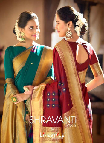 Shravanti Vol 2 By Lifestyle Saree (Set of 6 Pcs)