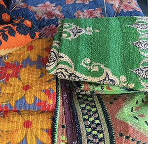 Vintage Kantha Bed Throw