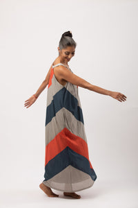 Sarah Chevron Dress