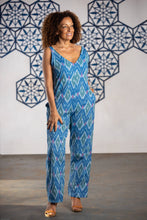 Load image into Gallery viewer, cotton v neckline jumpsuit