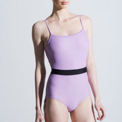 Sonya lavender spaghetti strap leotard Balletto Body
