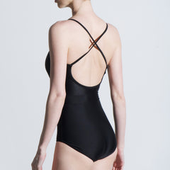 Cross back spaghetti strap black one piece leotard Balletto Body