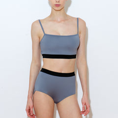 Snow two piece set spaghetti strap high waisted titanium Balletto Body