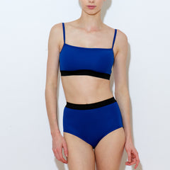 Sample Snow two piece blue lycra high waisted brief Balletto Body