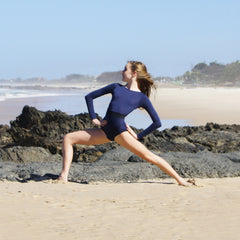 Leotard Balletto Body Navy Lauren one piece sports stripe