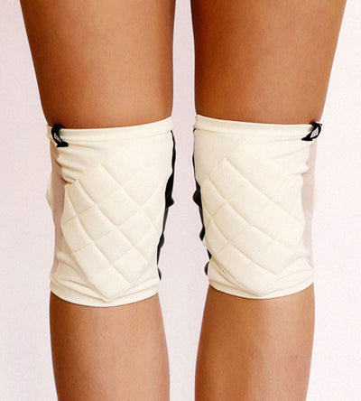 Poledancerka Knee Pads Ivory White