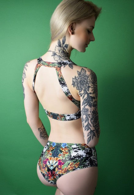 Jungle Open Back Top Pole Addict Polewear
