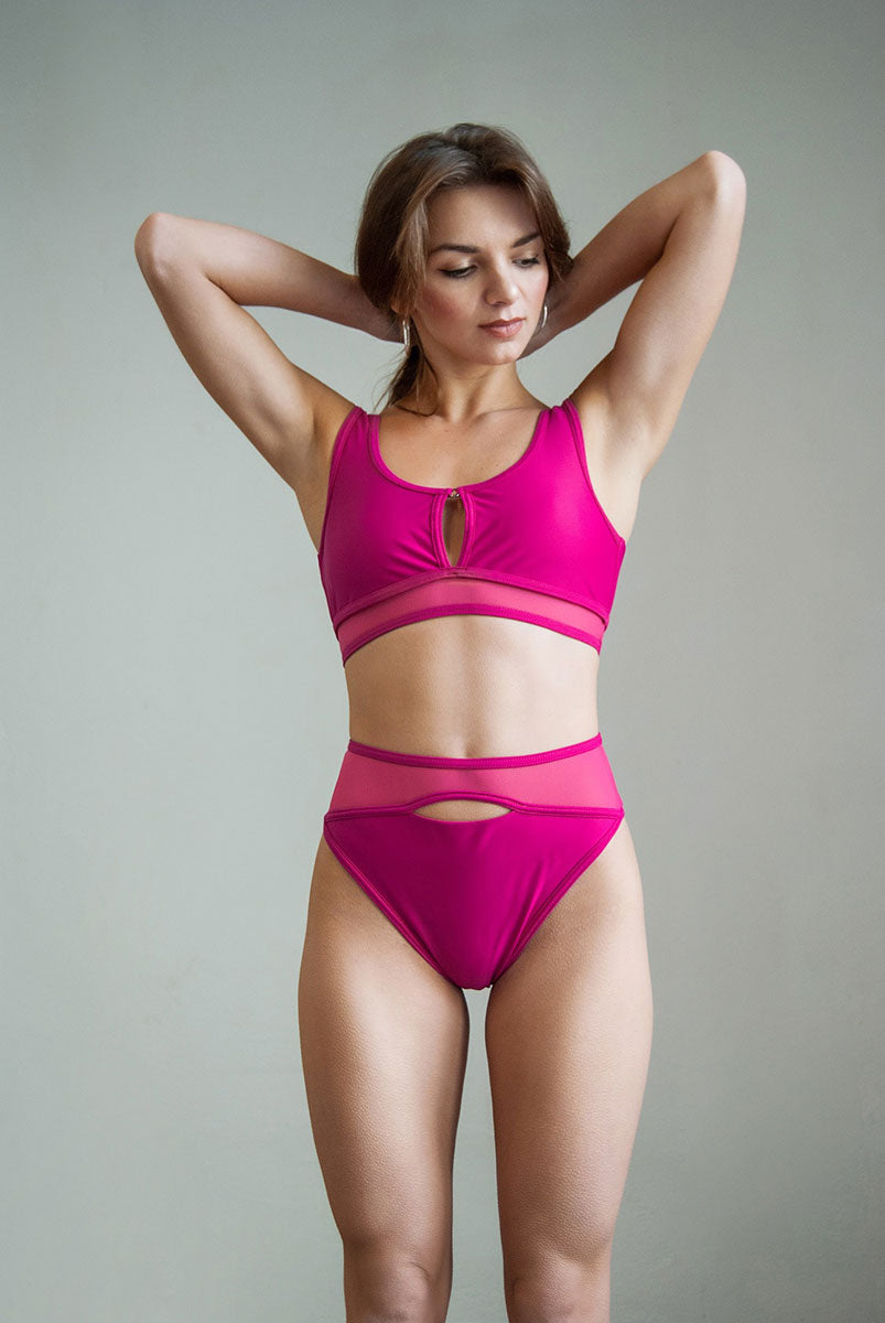 Pole Addict Land Top Pink