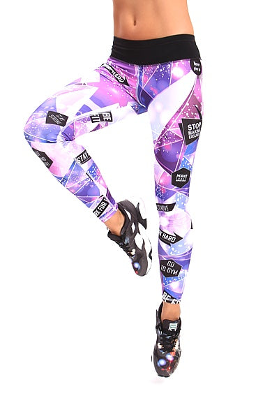 GALACTICA Leggings Lila