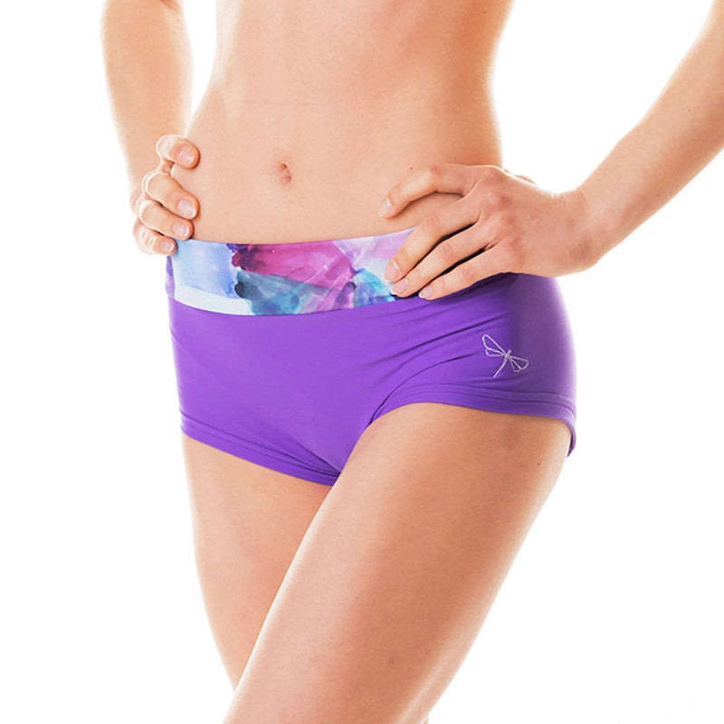 Mandy Shorts Aquarelle violett