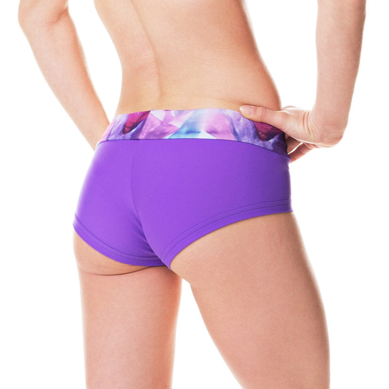 Hot Pants Aquarelle violett