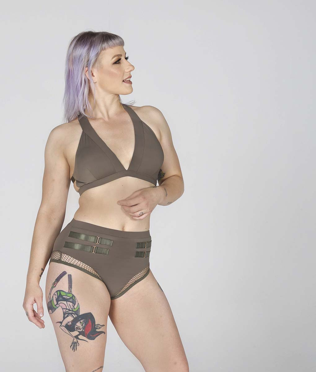 Isla Shorts Khaki Tatiana Active Wear