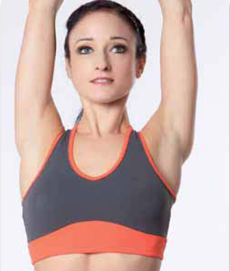 SportTop Topsupbi grau-orange Intermezzo