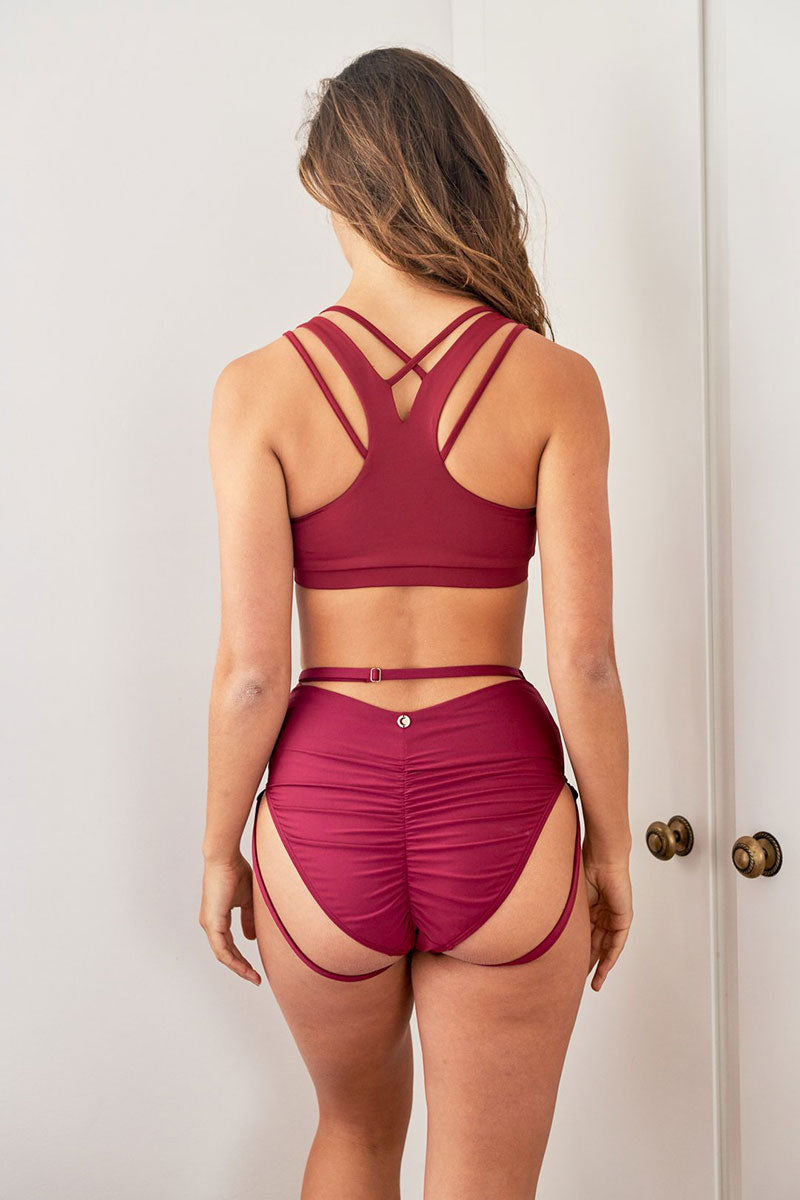 Blair Short Recycled Burgundy Lunalae Polewear