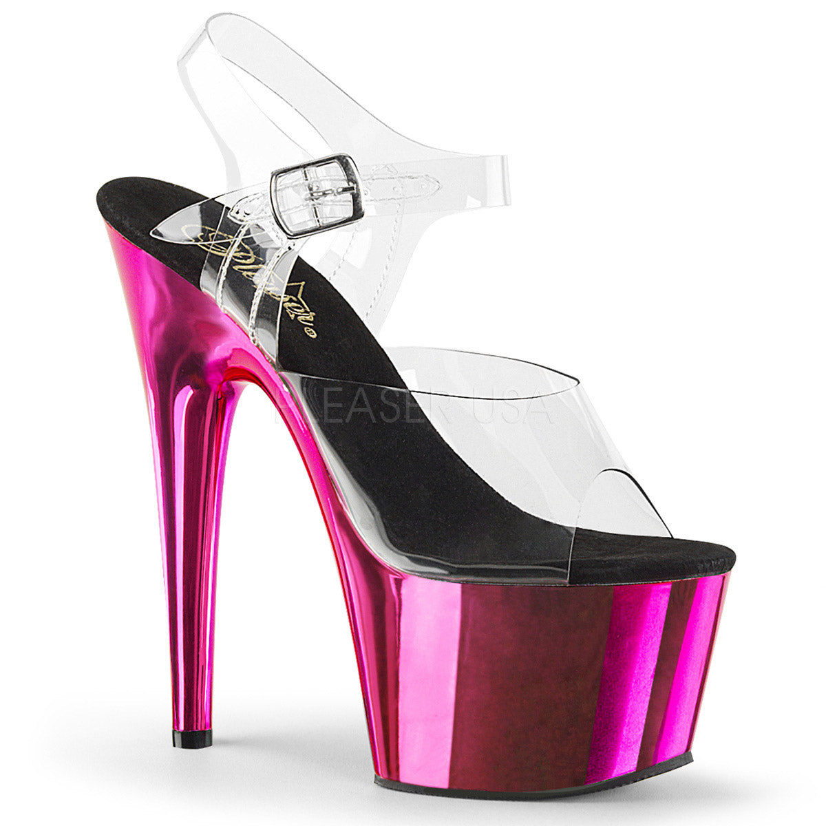 ADORE 708 Chrom 7 inch Pleaser - Hot Pink