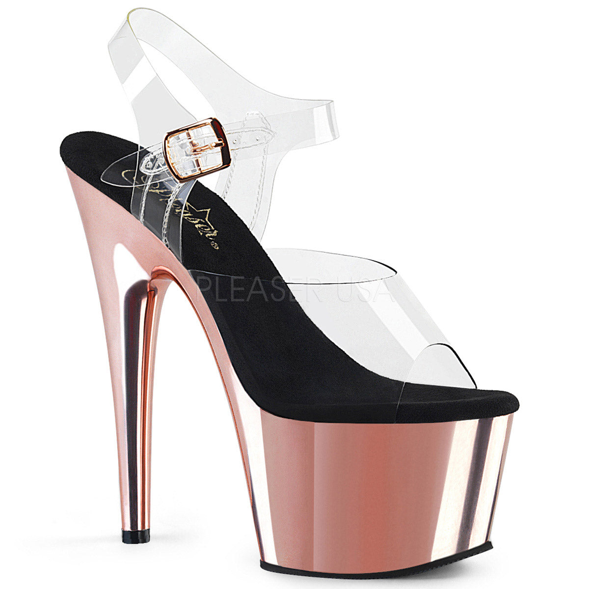 ADORE 708 Chrom 7 inch Pleaser - Rose Gold