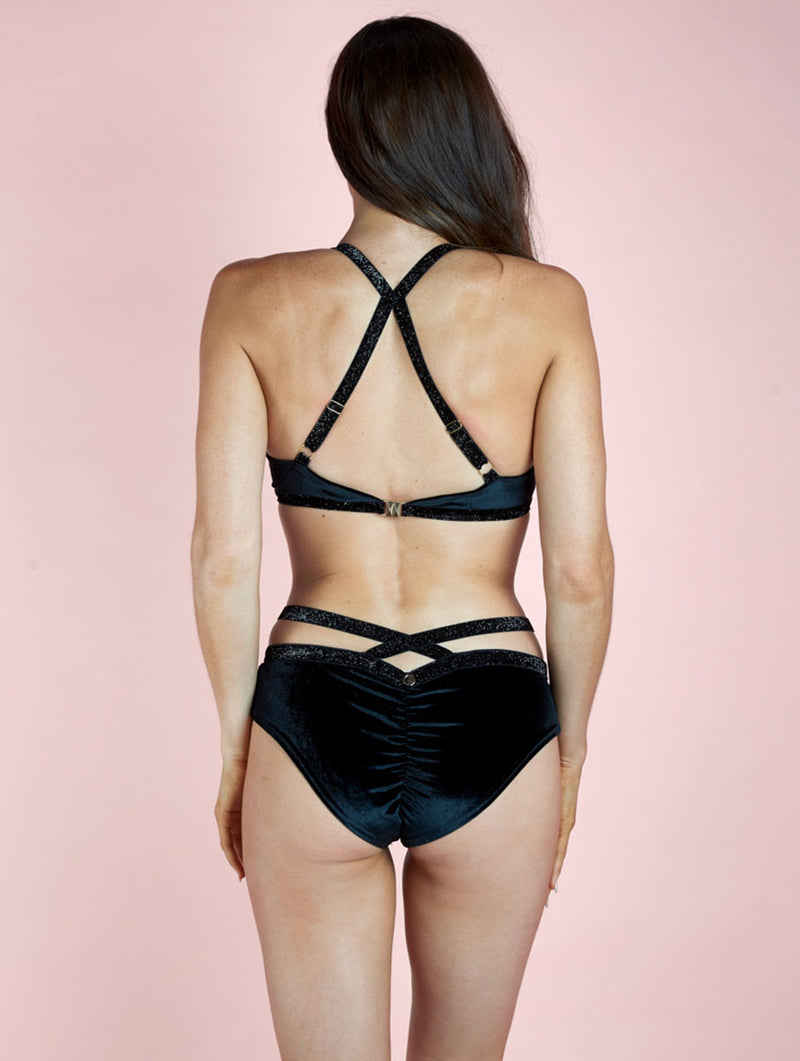Sienna Low Waist Shorts Black Luna Polewear