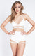 Lure You High Waist Garter Shorts White Luna Polewear