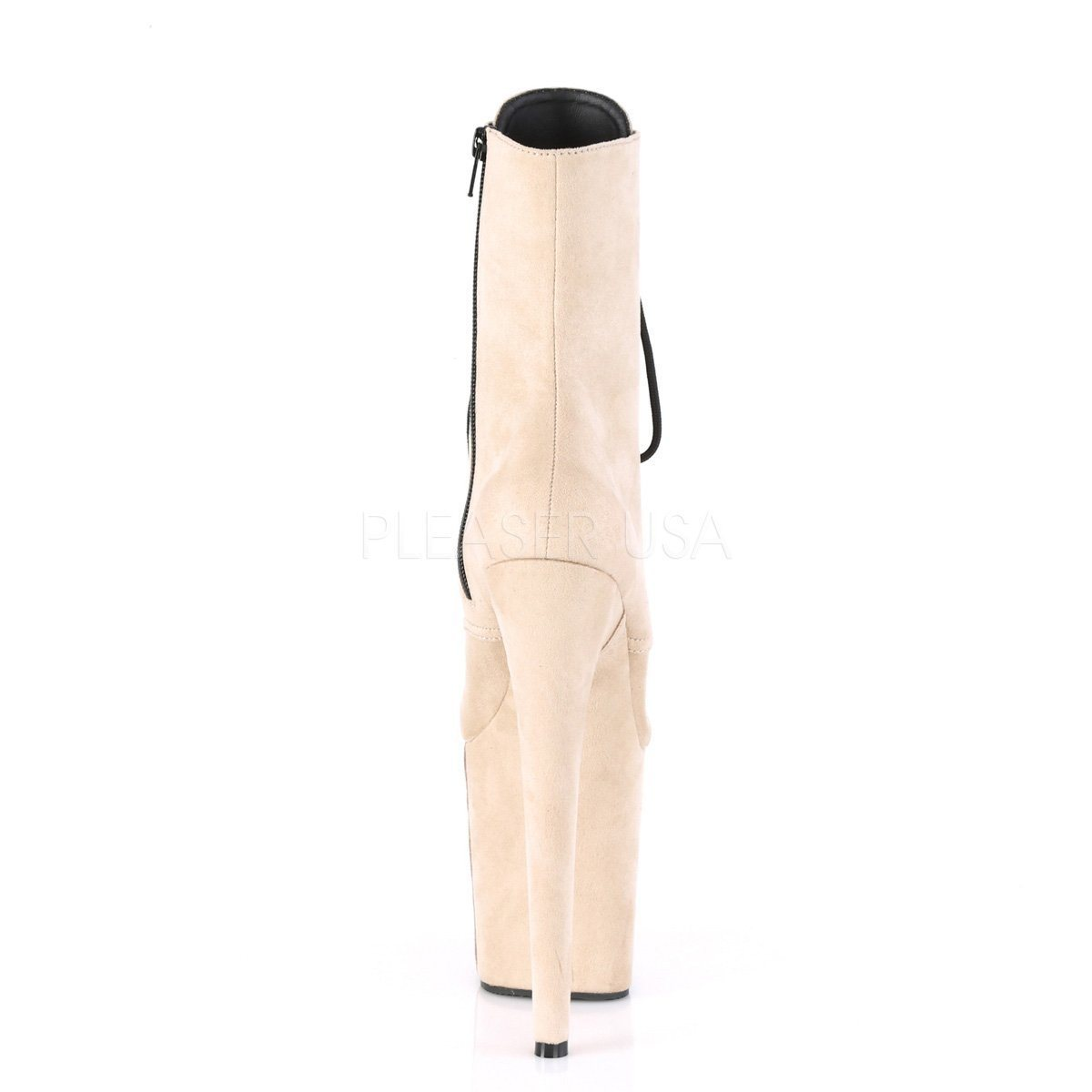 Flamingo 1020FS 8 inch Pleaser Boot Velours Beige