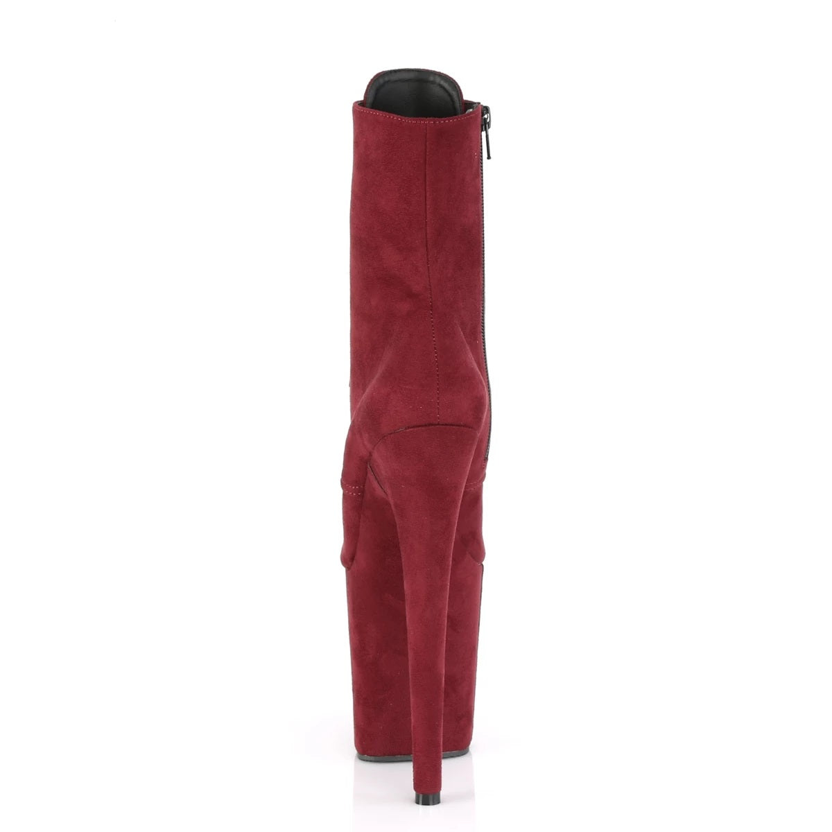 Flamingo 1020FS 8 inch Pleaser Boot Velours Burgundy