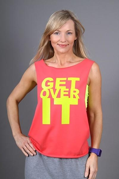 GET OVER IT Shirt Coral