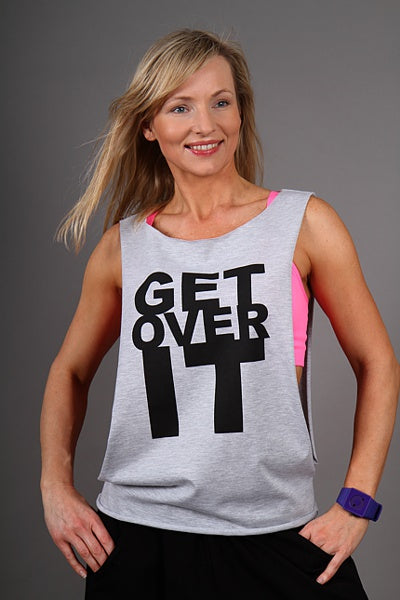 GET OVER IT Shirt Grau