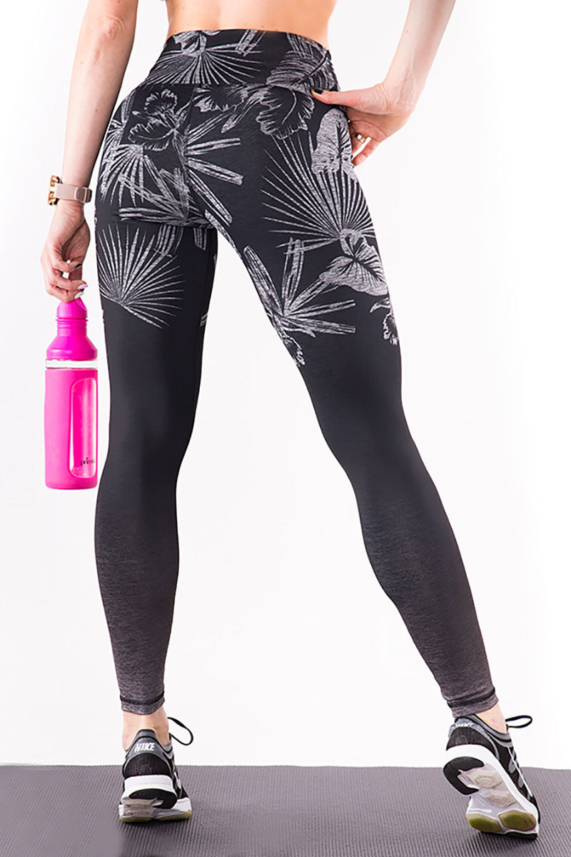 OMBRE JUNGLE BLACK Leggings