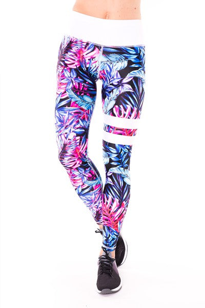 BLUE TROPICANA Leggings 2Skin