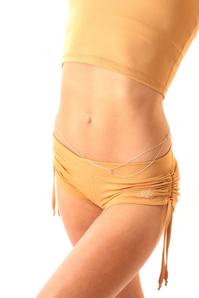 Lucia Short - No Drawstring Gold Mika Yoga Wear