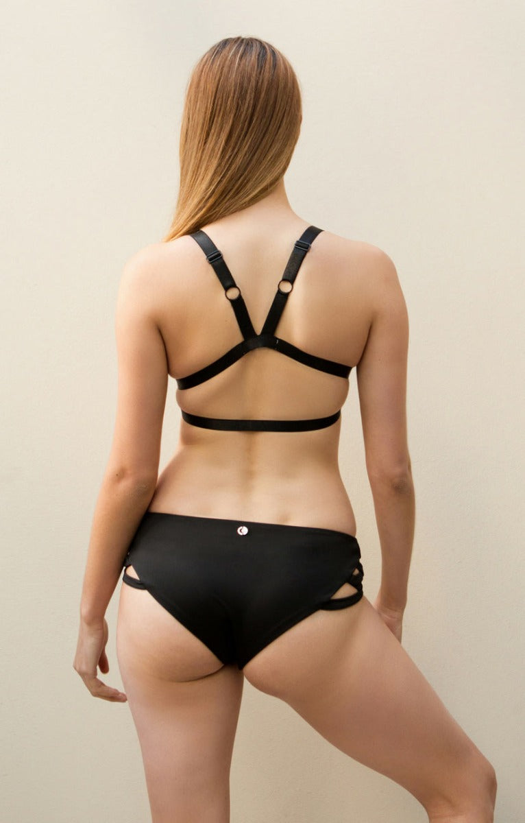 Follow Me Bra Black Luna Polewear