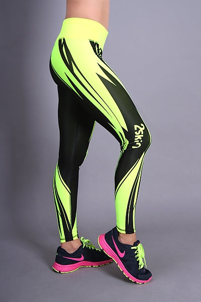 RACING Leggings gelb 2Skin
