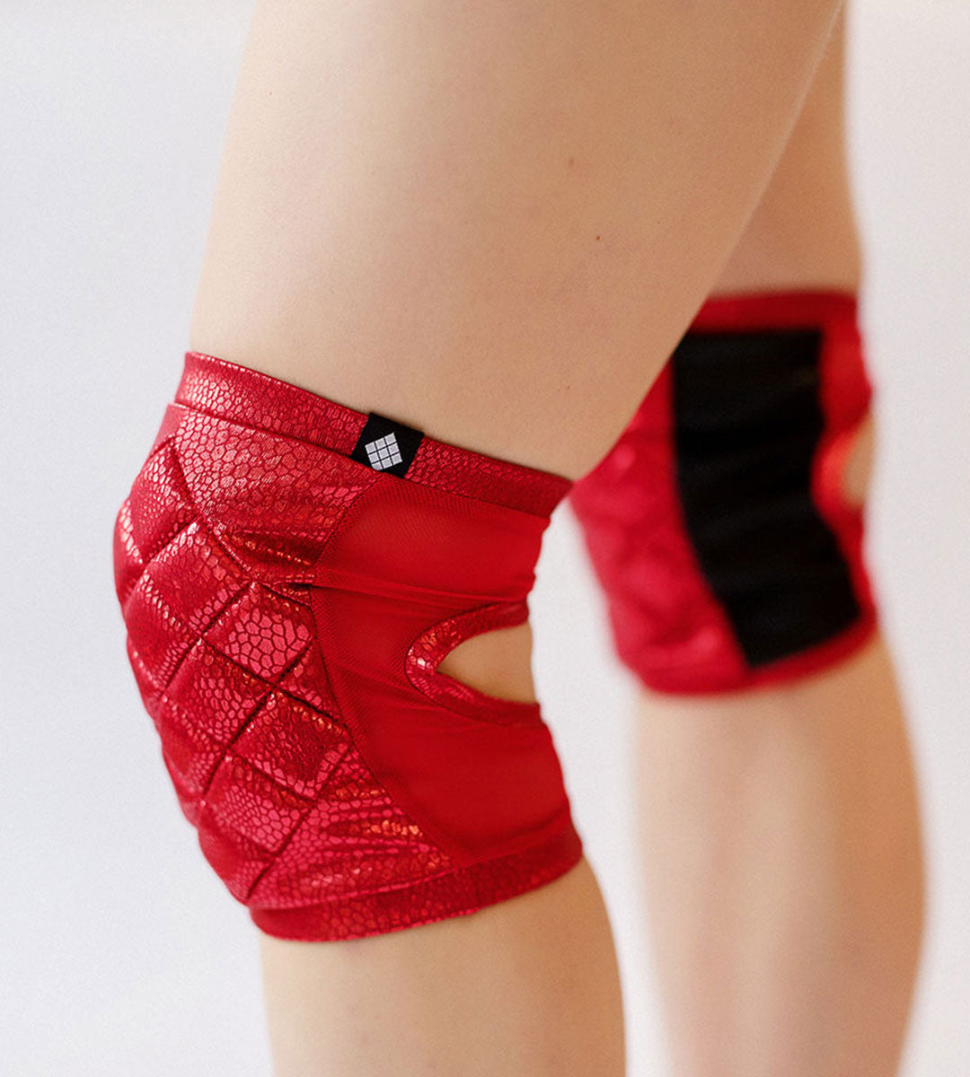 Poledancerka Knee Pads Shiny Red