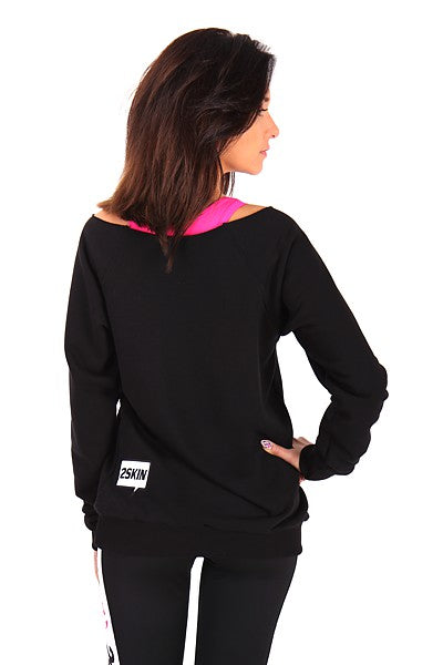SHUT UP Pullover schwarz 2Skin