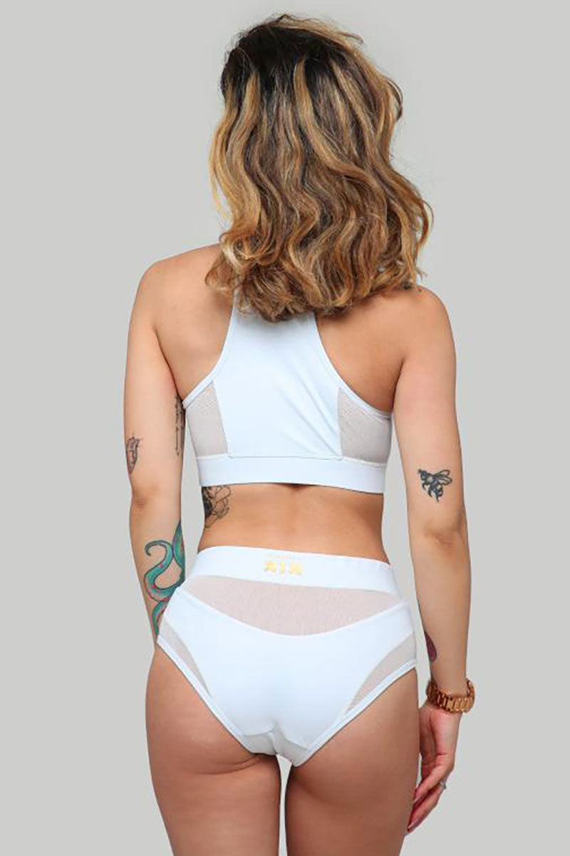 ISIS Goddess High Waist Short White with White Mesh Creatures of XIX