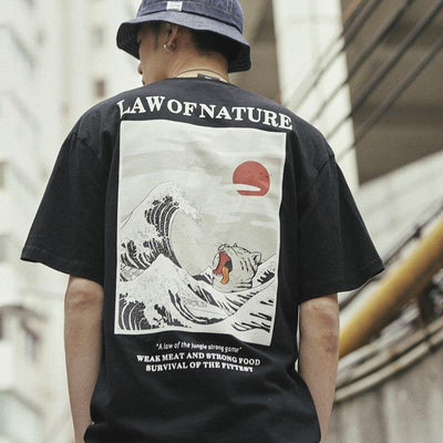 t shirt vague hokusai