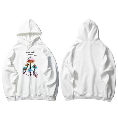 hoodie blanc a capuche oversize