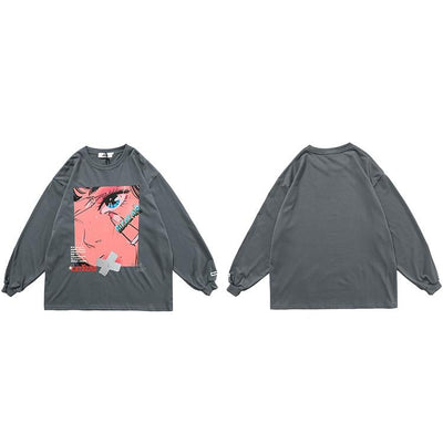 pull anime gris