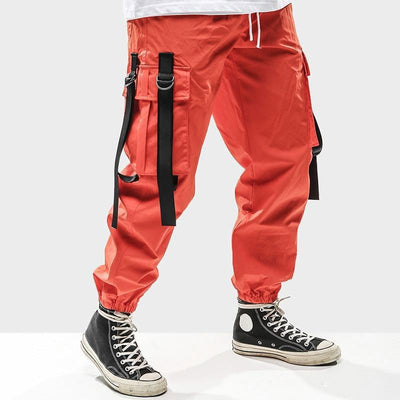 pantalon cargo japonais orange