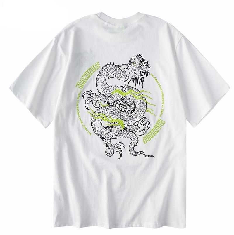 t shirt dragon japonais
