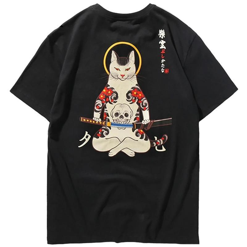 T-Shirt Chat Japonais